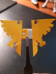 making the logo with pla plate
